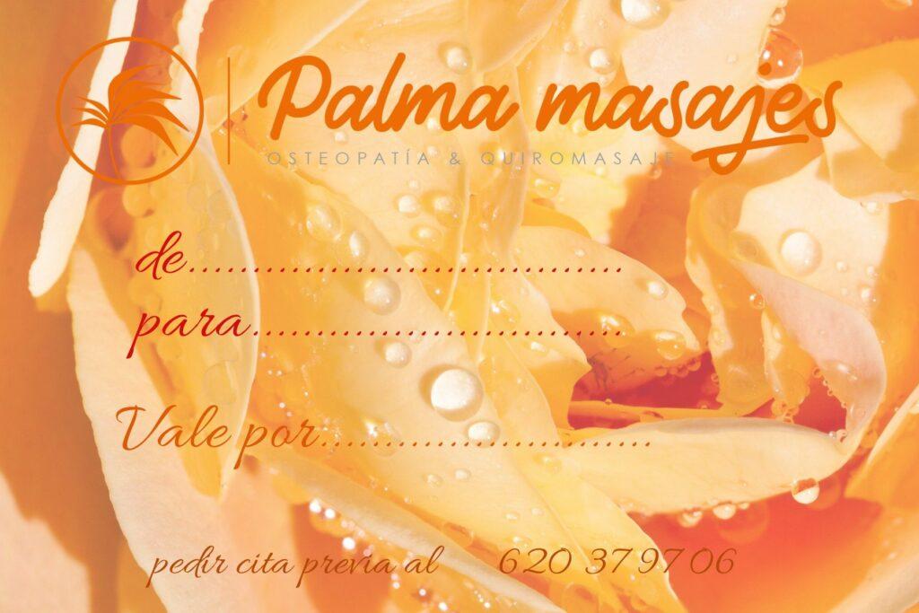 tarjeta palma masajes