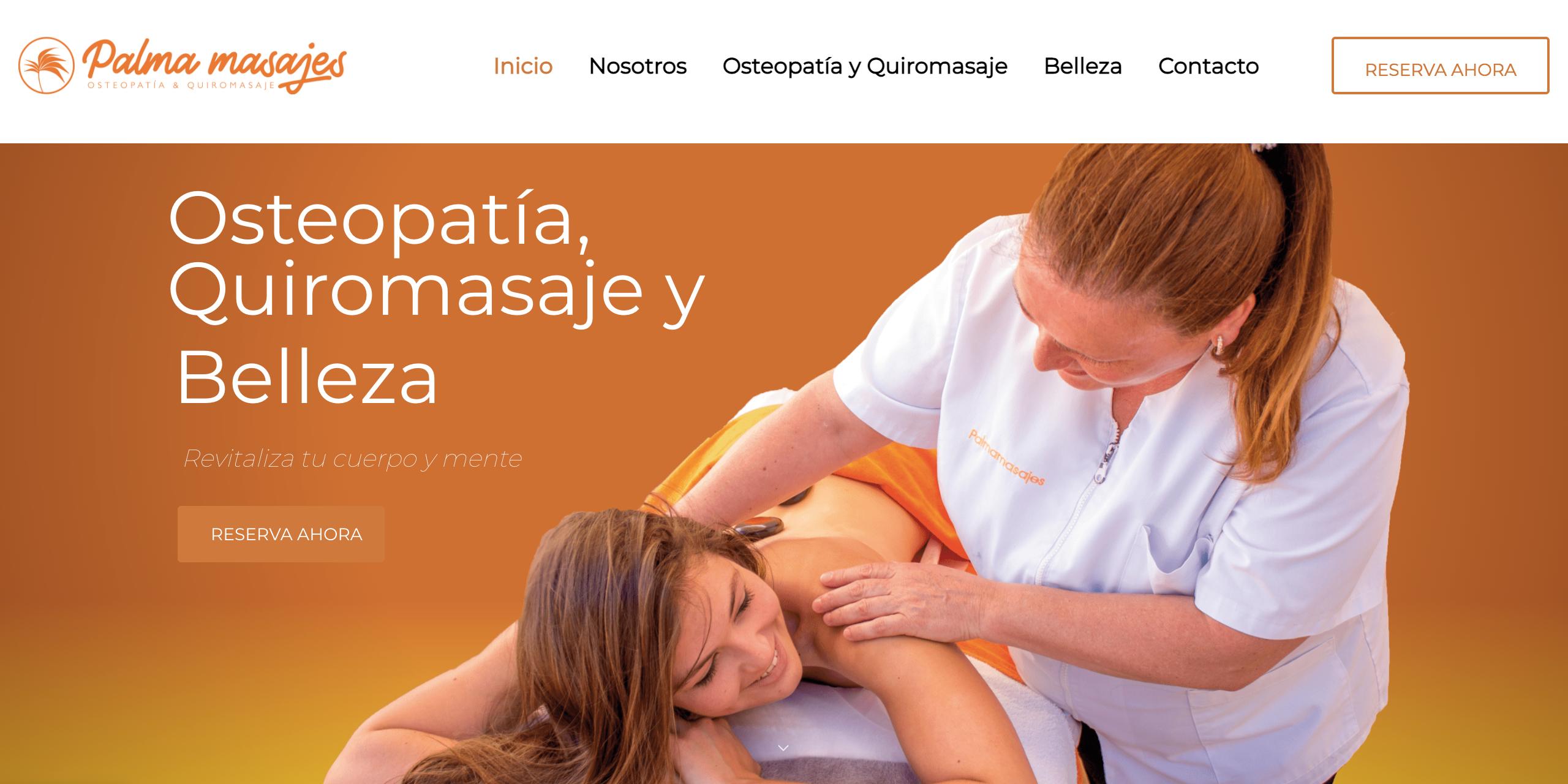 diseño web palma masajes